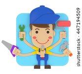 3d rendering icon technician... | Shutterstock . vector #447194509