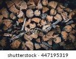 old firewood   Shutterstock . vector #447195319