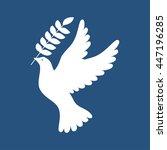 dove of peace icon   Shutterstock .eps vector #447196285
