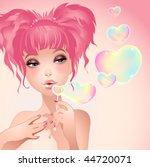 saint valentine s day girl | Shutterstock .eps vector #44720071