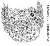 vector illustration zentangl... | Shutterstock .eps vector #447204061