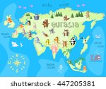concept design map of eurasian... | Shutterstock .eps vector #447205381