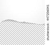 torn paper banner on ... | Shutterstock .eps vector #447206041