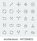 arrow symbols vector icon set... | Shutterstock .eps vector #447206821