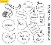 vector collection of stickers ...   Shutterstock .eps vector #447210721
