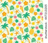 vector seamless pattern with... | Shutterstock .eps vector #447213205