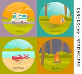 tourist camping concept with... | Shutterstock .eps vector #447217891