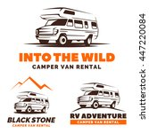 camper van car logo  emblems...   Shutterstock .eps vector #447220084