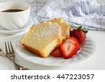 sliced delicious pound cake... | Shutterstock . vector #447223057