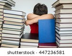 children in library with books | Shutterstock . vector #447236581