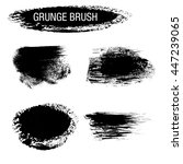 vector set of grunge brush... | Shutterstock .eps vector #447239065
