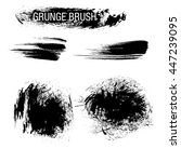 vector set of grunge brush... | Shutterstock .eps vector #447239095