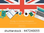 study in united kingdom concept ... | Shutterstock .eps vector #447240055