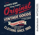 graphic tee. vintage logo... | Shutterstock .eps vector #447241231