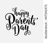 happy parents day | Shutterstock .eps vector #447241471
