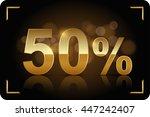 gold 50 percent. vector image. | Shutterstock .eps vector #447242407