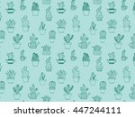 hand drawn background with cute ... | Shutterstock .eps vector #447244111