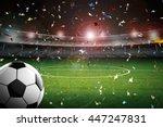 3d rendering soccer ball with... | Shutterstock . vector #447247831