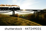 steam engine train locomotive... | Shutterstock . vector #447249031