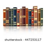 books on white background with... | Shutterstock .eps vector #447253117