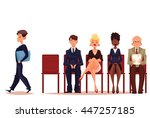 business people  men and women... | Shutterstock .eps vector #447257185