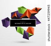 geometric vector background.... | Shutterstock .eps vector #447259945