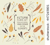 collection of nature autumn... | Shutterstock .eps vector #447265801