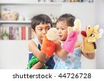 asian sibling playing hand mad... | Shutterstock . vector #44726728