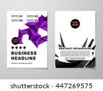 geometric cover background ... | Shutterstock .eps vector #447269575