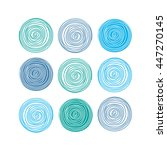 cute sets line texture. hand... | Shutterstock .eps vector #447270145