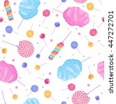 lollipops and cotton candy... | Shutterstock .eps vector #447272701