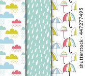set of seamless vector patterns ... | Shutterstock .eps vector #447277495