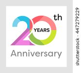 template logo 20th anniversary... | Shutterstock .eps vector #447279229
