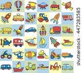 cute seamless baby pattern. set ...   Shutterstock .eps vector #447283585