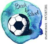 vector illustration . soccer... | Shutterstock .eps vector #447287281
