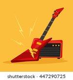 electric guitar. vector flat...