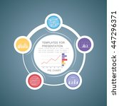 pie chart in 5 steps or... | Shutterstock .eps vector #447296371