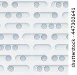 seamless 3d texture. perforated ... | Shutterstock . vector #447302641