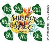 template for summer sale... | Shutterstock .eps vector #447310009