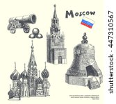 Set Of Landmarks Of Moscow....