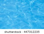 blue water in the swimming pool | Shutterstock . vector #447312235