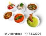 variety of restaurant hot... | Shutterstock . vector #447313309