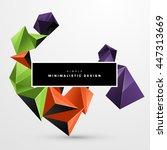 geometric vector background.... | Shutterstock .eps vector #447313669