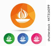 sail boat icon. ship sign.... | Shutterstock .eps vector #447316099