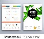 geometric cover background ... | Shutterstock .eps vector #447317449