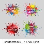 abstract colorful summer sales... | Shutterstock .eps vector #447317545