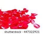 red rose petals | Shutterstock . vector #447322921