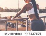 enjoying city life. close up of ...   Shutterstock . vector #447327805