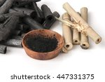 bamboo charcoal burned and...   Shutterstock . vector #447331375