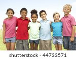 group of children playing in... | Shutterstock . vector #44733571